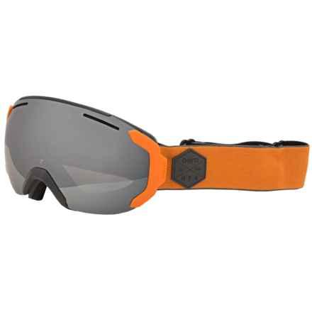 Bern Jackson Ski Goggles in Grey/Orange/Grey Light Mirror - Closeouts