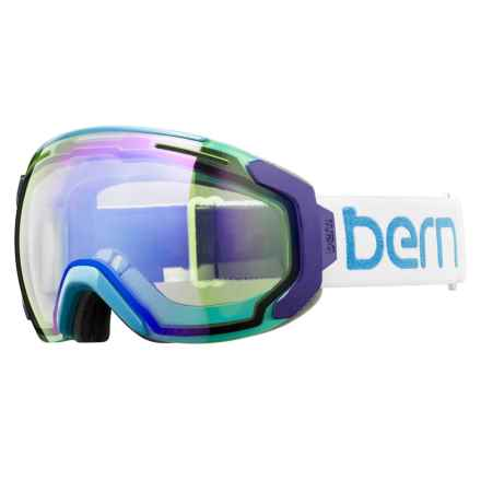 Bern Juno Ski Goggles (For Women) in White/Teal/Light Mirror Yellow/Blue - Closeouts