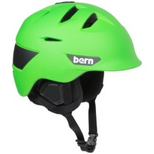 Bern Kingston Ski Helmet in Matte Neon Green - Closeouts