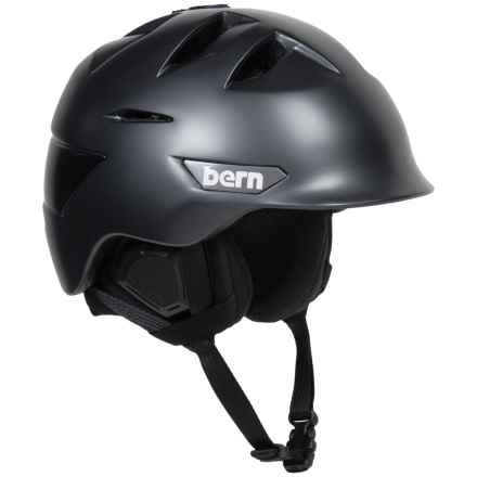 Bern Kingston Ski Helmet in Satin Gunmetal Grey - Closeouts