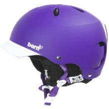 Bern Lenox Brimstyle EPS Multi-Sport Helmet - Removable Winter Liner (For Women) in Matte Purple/White/Black - Closeouts