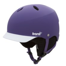 Bern Lenox EPS Multi-Sport Helmet - Removable Winter Liner (For Women) in Matte Purple/Black Knit - Closeouts