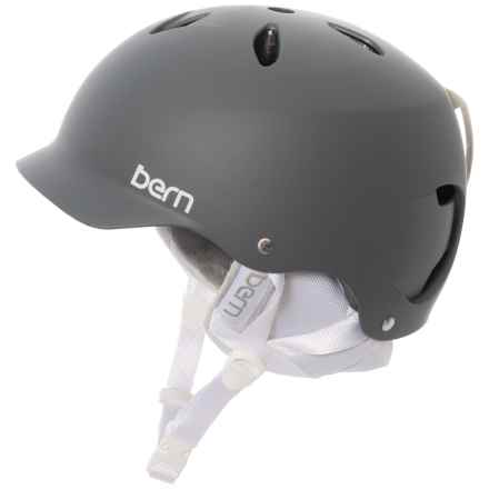 Bern Lenox EPS Ski Helmet (For Women) in Matte Grey/Grey - Closeouts