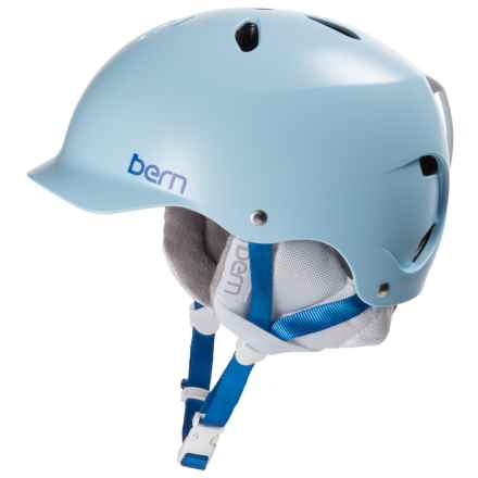 Bern Lenox EPS Ski Helmet (For Women) in Satin Light Blue - Closeouts