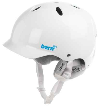 Bern Lenox EPS Ski Helmet - Removable Winter Liner (For Women) in Gloss White - Closeouts