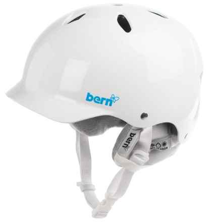 Bern Lenox EPS Ski Helmet - Removable Winter Liner (For Women) in Gloss White - Closeouts