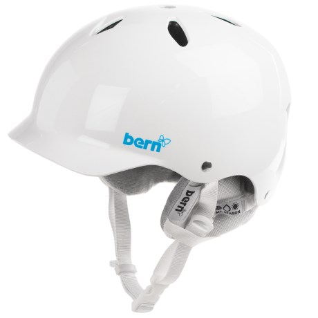 Bern Lenox EPS Ski Helmet - Removable Winter Liner (For Women) in Gloss White