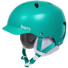 Bern Lenox EPS Ski Helmet - Removable Winter Liner (For Women) in Matte Turquoise - Closeouts