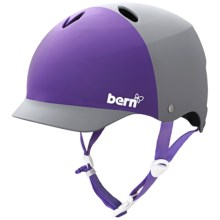 Bern Lenox Multi-Sport Helmet (For Women) in Matte Grey/Purple 2 Tone - Closeouts