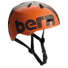 Bern Macon Hard Hat - Watersport Helmet in Matte Brown/Orange - Closeouts