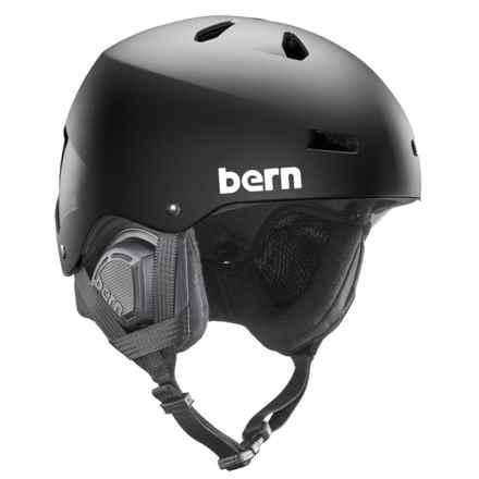 Bern Macon Ski Helmet - 8tracks® Audio, Winter Liner in Black - Closeouts