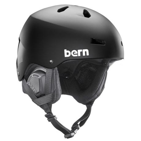 Bern Macon Ski Helmet - 8tracks® Audio, Winter Liner in Black