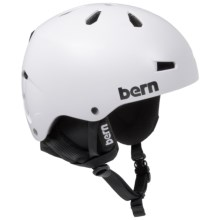 Bern Macon Ski Helmet (For Men) in Satin White - Closeouts