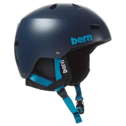 Bern Macon Ski Helmet - Winter Liner in Satin Navy Blue - Closeouts