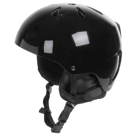 Bern Macon Ski Helmet with 8Tracks Audio (For Men) in Gloss Black - Closeouts