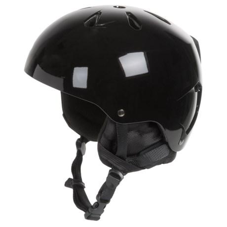 Bern Macon Ski Helmet with 8Tracks Audio (For Men) in Gloss Black