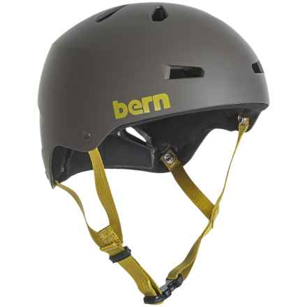 Bern Macon Team Bike Helmet (For Men) in Matte Charcoal Grey - Closeouts