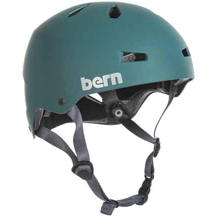 Bern Macon Team Bike Helmet (For Men) in Matte Green - Closeouts