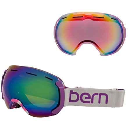 Bern Monroe PLUSfoam Ski Goggles - Extra Lens (For Women) in Grey/Purple/Blue Light Mirror - Closeouts