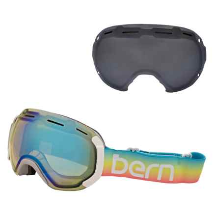 Bern Monroe PLUSfoam Ski Goggles - Extra Lens (For Women) in Rainbow/Yellow Mirror - Closeouts