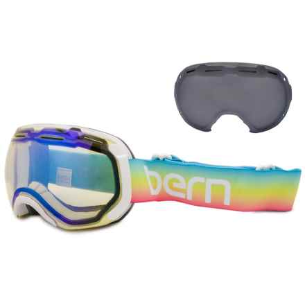 Bern Monroe Ski Goggles - Extra Lens (For Women) in Rainbow/Light Mirror Yellow/Blue - Closeouts