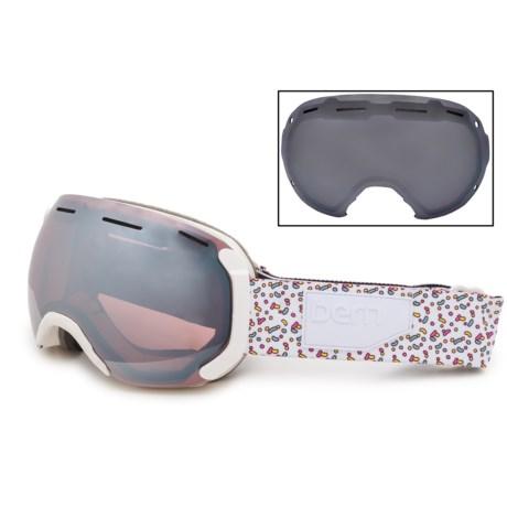 Bern Monroe Ski Goggles - Mirror Lens, Extra Lens (For Women) in White Sprinkles/Light Mirror Rose
