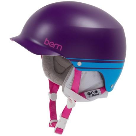 Bern Muse EPS Hatstyle Multi-Sport Helmet (For Women) in Satin Purple/Blue Retro