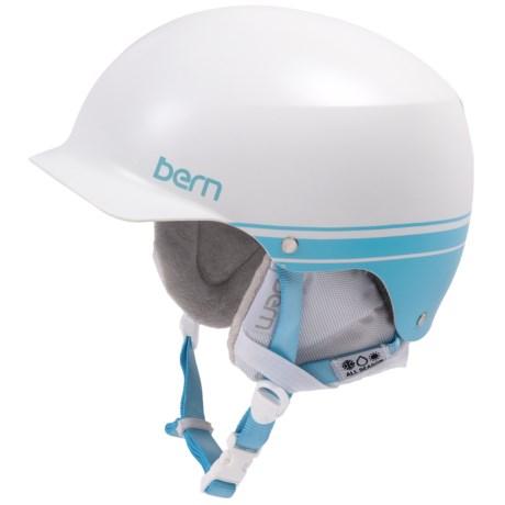 Bern Muse EPS Hatstyle Multi-Sport Helmet (For Women) in Satin White/Blue Retro