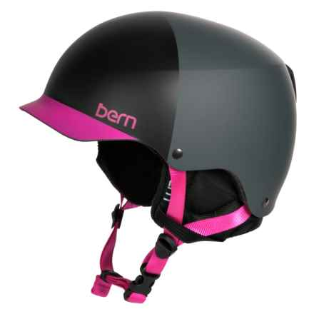 Bern Muse EPS Hatstyle Ski Helmet (For Women) in Matte Black/Magenta - Closeouts