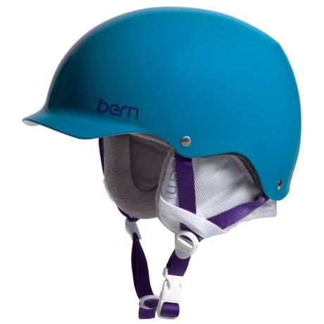 Bern Muse Ski Helmet (For Women) in Satin Ocean Blue