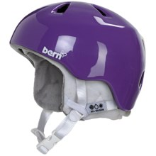 Bern Nina Multi-Sport Helmet - Removable Liner (For Girls) in Gloss Purple/White - Closeouts