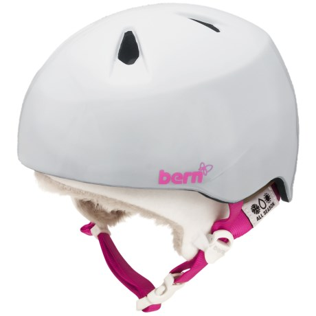 Bern Nina Multi-Sport Helmet - Removable Liner (For Girls) in Gloss White/White Fleece