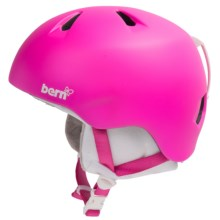 Bern Nina Ski Helmet - Removable Liner (For Little Girls) in Gloss Pink - Closeouts