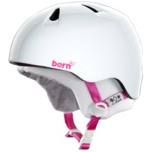 Bern Nina Ski Helmet - Removable Liner (For Little Girls) in Gloss White - Closeouts