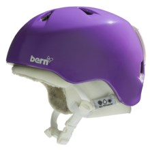 Bern Nina Zip Mold® Multi-Sport Helmet - Removable Winter Liner (For Girls) in Gloss Purple/White - Closeouts