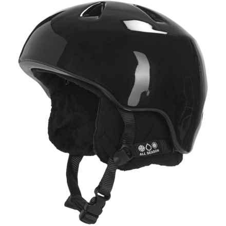 Bern Nino Ski Helmet - Removable Liner (For Little Boys) in Gloss Black/Black - Closeouts