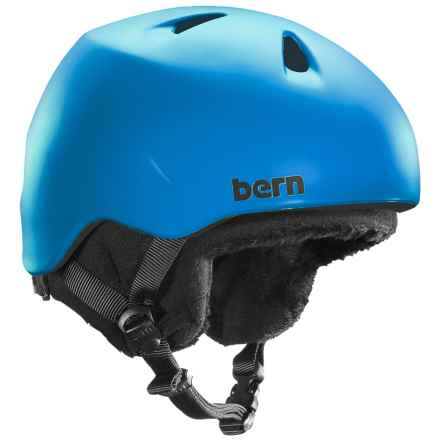 Bern Nino Ski Helmet - Removable Liner (For Little Boys) in Matte Cyan - Closeouts