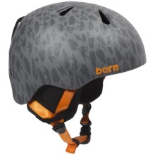 Bern Nino Ski Helmet - Removable Liner (For Little Boys) in Satin Grey Feature Creature - Closeouts