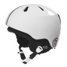 Bern Nino Zip Mold® Multi-Sport Helmet - Removable Winter Liner (For Boys) in Gloss White Racing Stripe/Black Knit - Closeouts