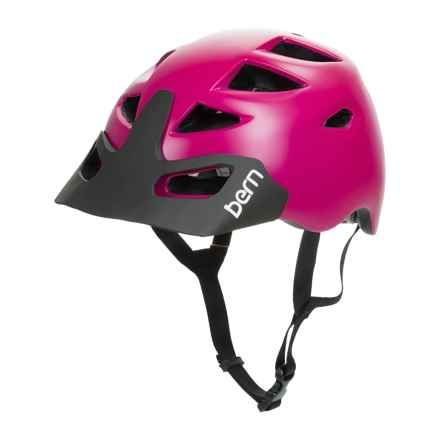 Bern Prescott Bike Helmet (For Women) in Satin Fuchsia Purple - Closeouts