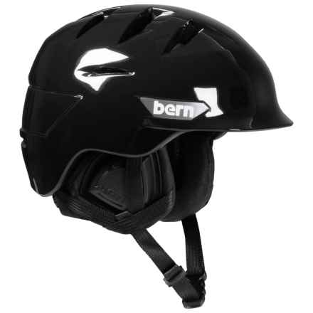Bern Rollins Ski Helmet (For Men) in Gloss Black/Black - Closeouts