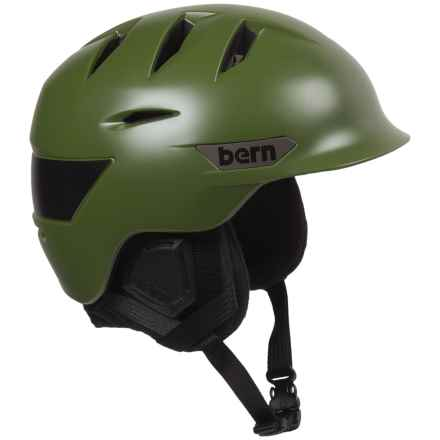 Bern Rollins Ski Helmet (For Men) in Satin Olive - Closeouts