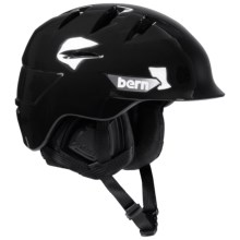 Bern Rollins Snowsport Helmet (For Men) in Gloss Black - Closeouts