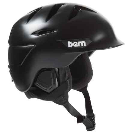 Bern Rollins Zip Mold® Ski Helmet - Slider Vents in Satin Black - Closeouts