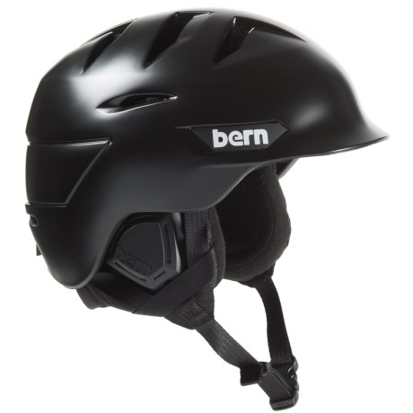 Bern Rollins Zip Mold® Ski Helmet - Slider Vents in Satin Black