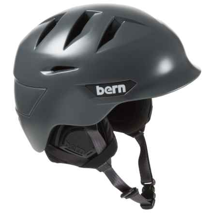 Bern Rollins Zip Mold® Ski Helmet - Slider Vents in Satin Grey - Closeouts