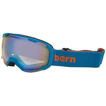 Bern Sawyer Ski Goggles (For Little and Big Kids) in Blue And Orange/Yellow Blue Light Mirror - Closeouts