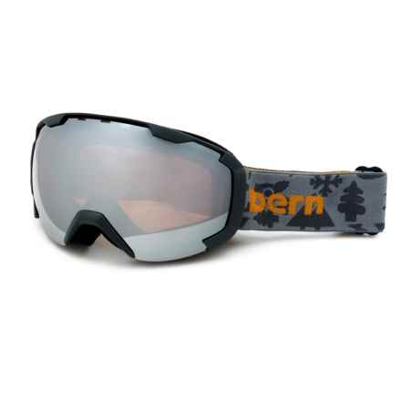 Bern Sawyer Ski Goggles (For Little and Big Kids) in Charcoal Creature Feature/Orange Light Mirror - Closeouts