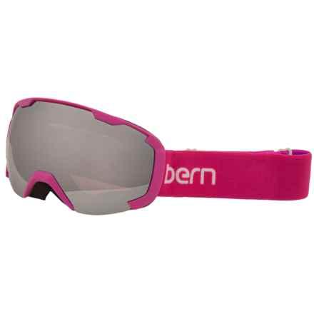 Bern Scout Ski Goggles (For Little and Big Kids) in Fuschia/Purplerose Light Mirror - Closeouts