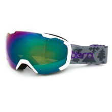 Bern Scout Ski Goggles (For Little and Big Kids) in Grey Creature Feature/Blue Light Mirror - Closeouts